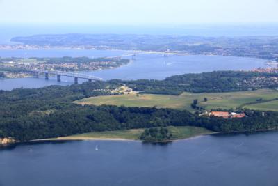 Dronebillede over Lillebaelt